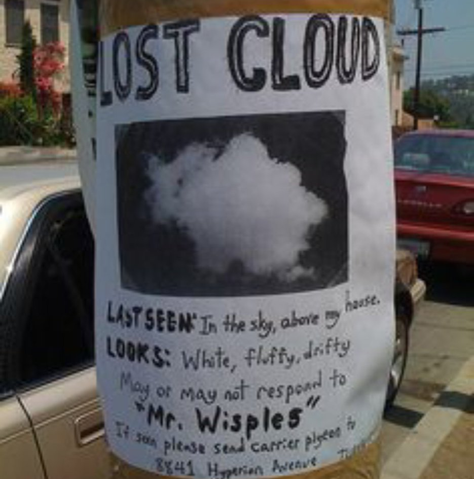 flyer for a lost cloud