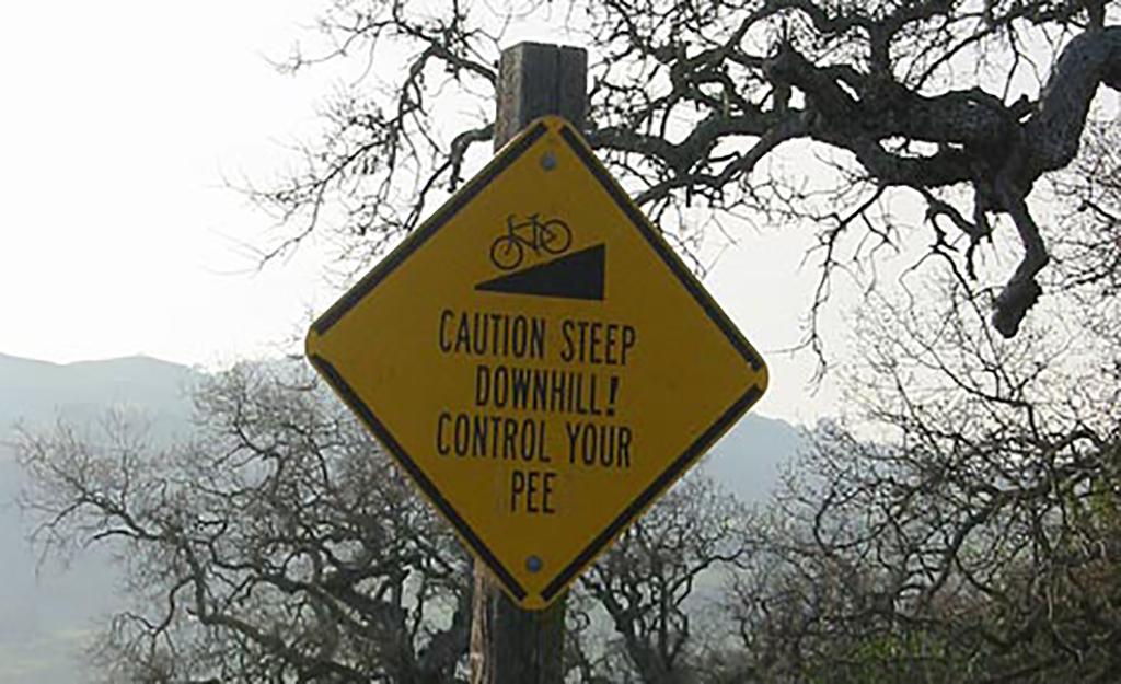 Downhill warning
