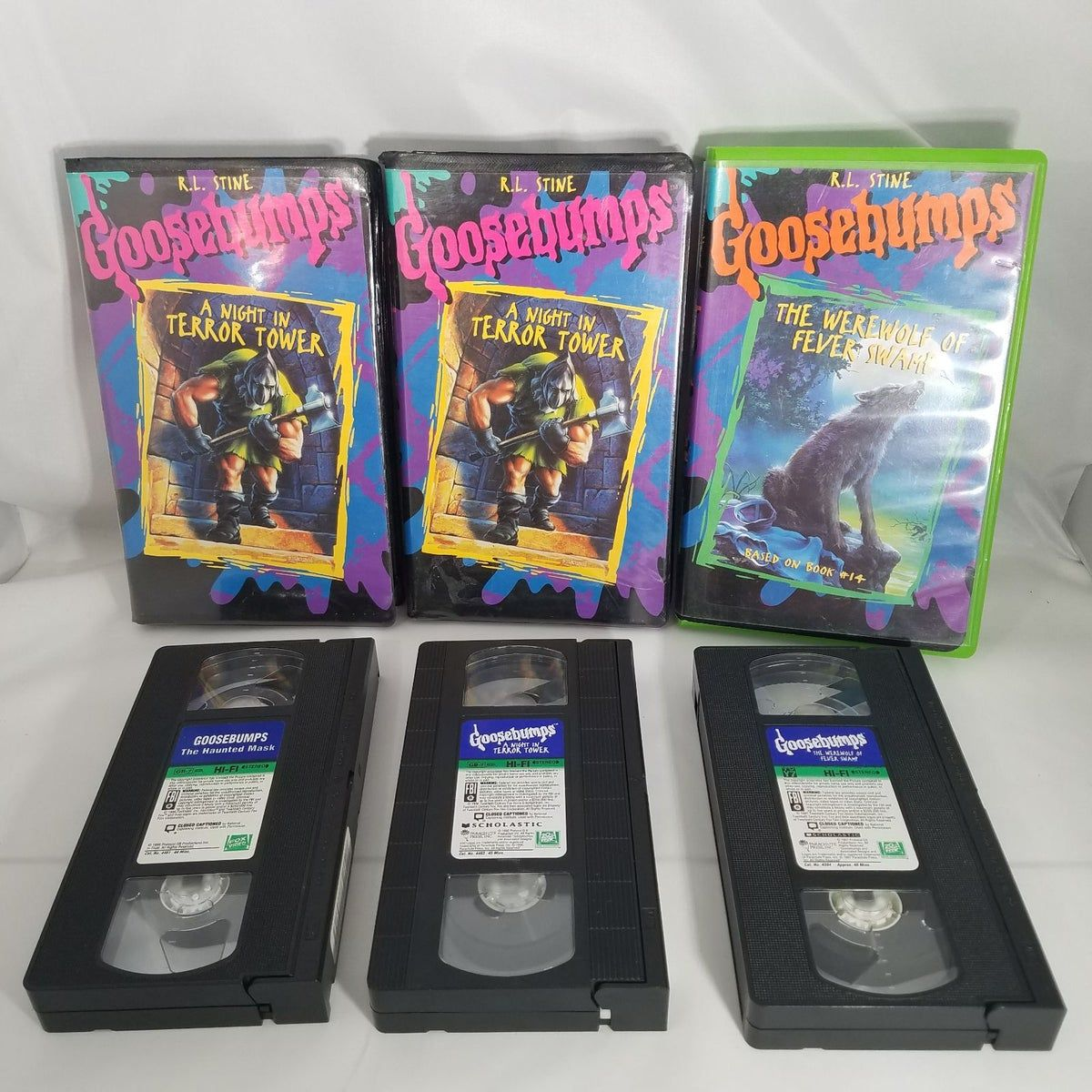 Goosebumps Vhs Lot Of 3 Clamshell