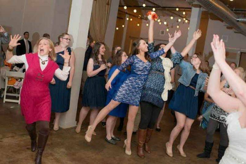 Show Of Hands, Who Thinks She's Had A Bad Experience With The Bouquet Toss?