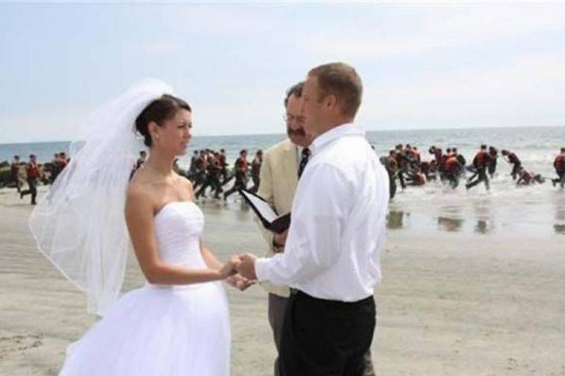 Pro Tip:  Make Sure The Navy SEALS Aren't Training On Your Wedding Day