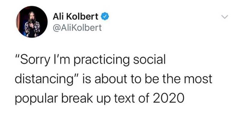 A tweet says,