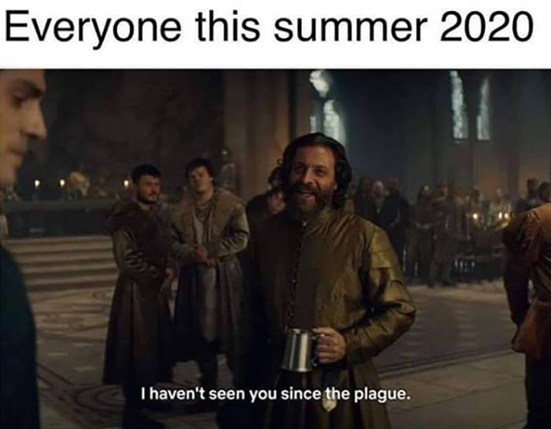 A meme shows everyone in the summer of 2020 saying