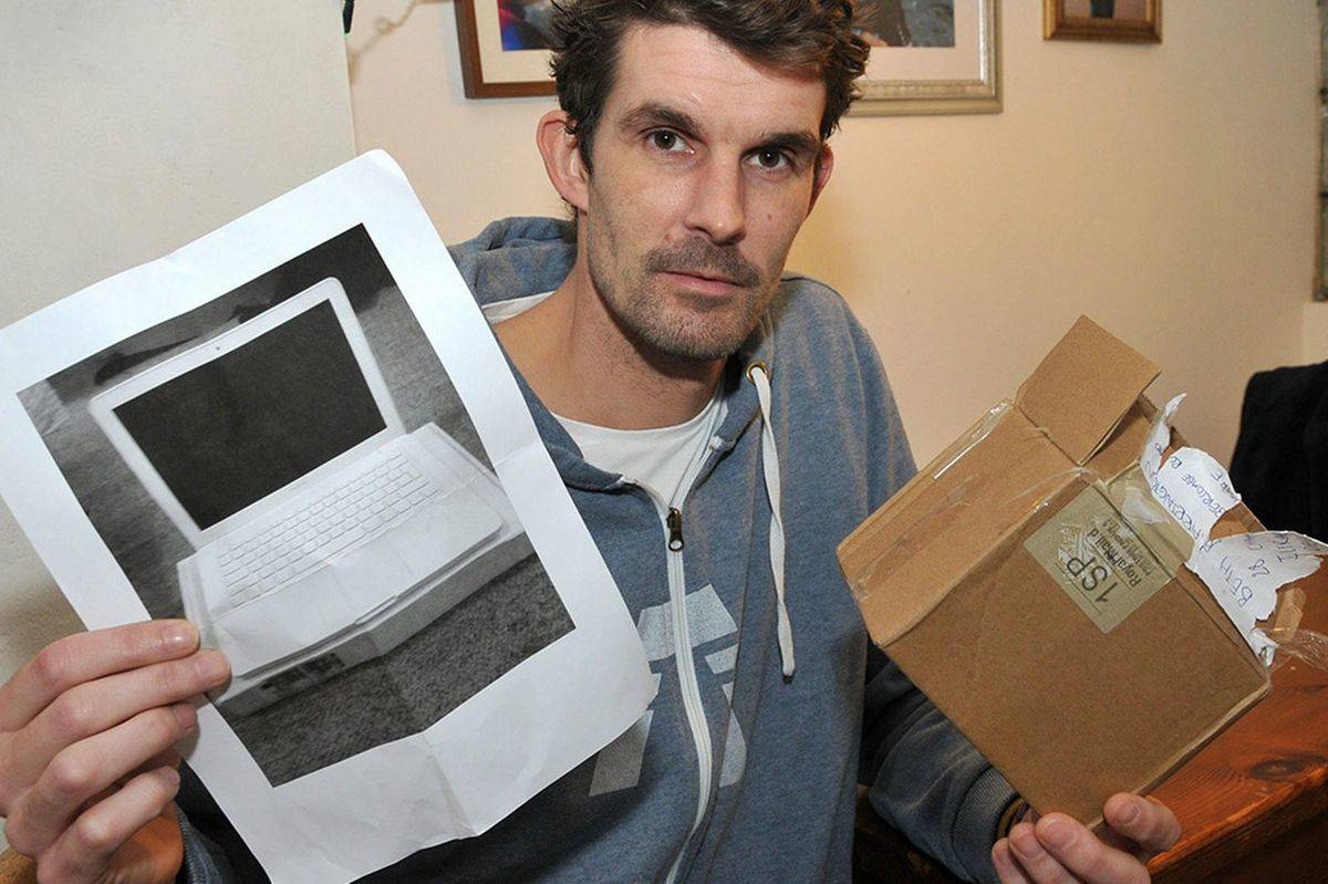 A man who ordered a computer off of eBay received a printed photo of a computer.