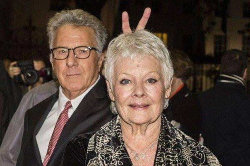 Only Dustin Hoffman Could Get Away With Giving Judi Dench Bunny Ears