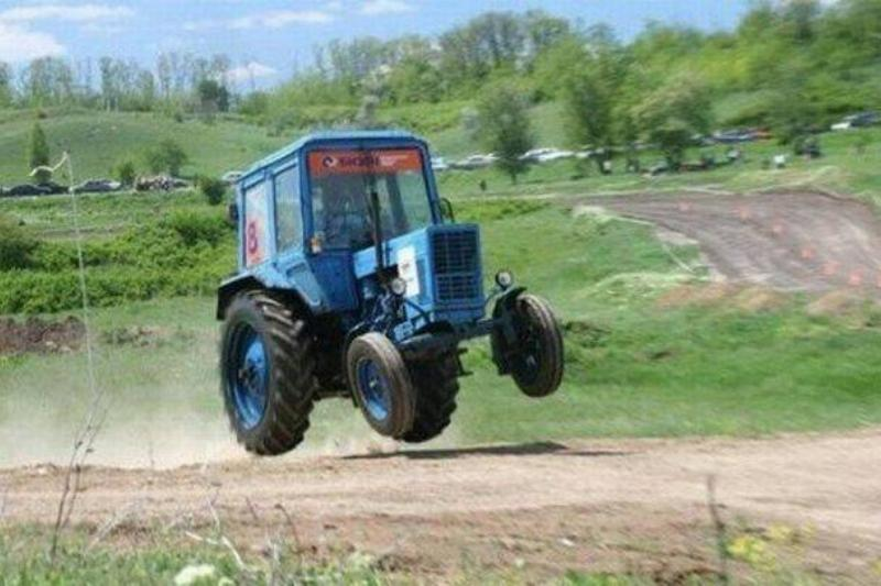 Tractor getting air