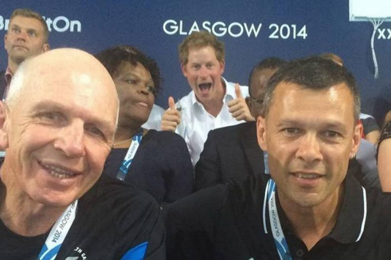 Prince Harry Gave The Rugby Officials Two Thumbs Up