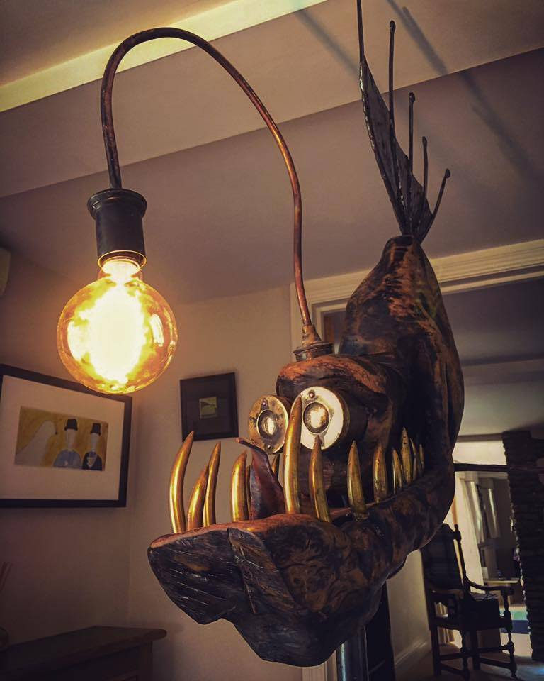 Stunning Steampunk Inspired Anglerfish Lamps