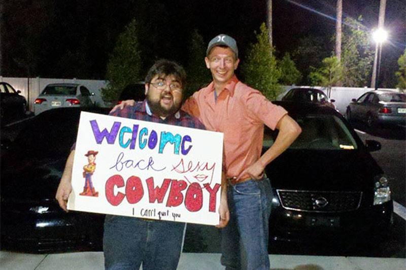 Funny Airport Sign Cowboy