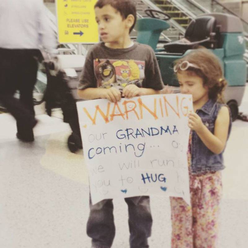 Funny Airport Sign For Grandma