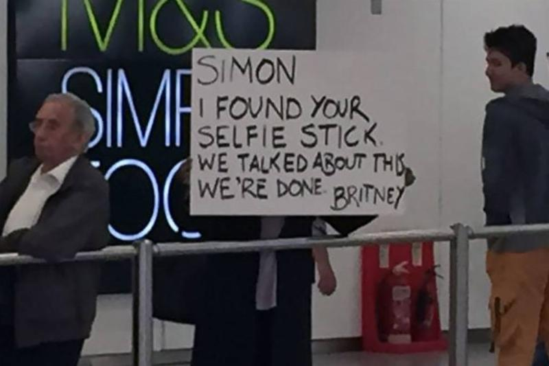 Funny Airport Sign Selfie Stick