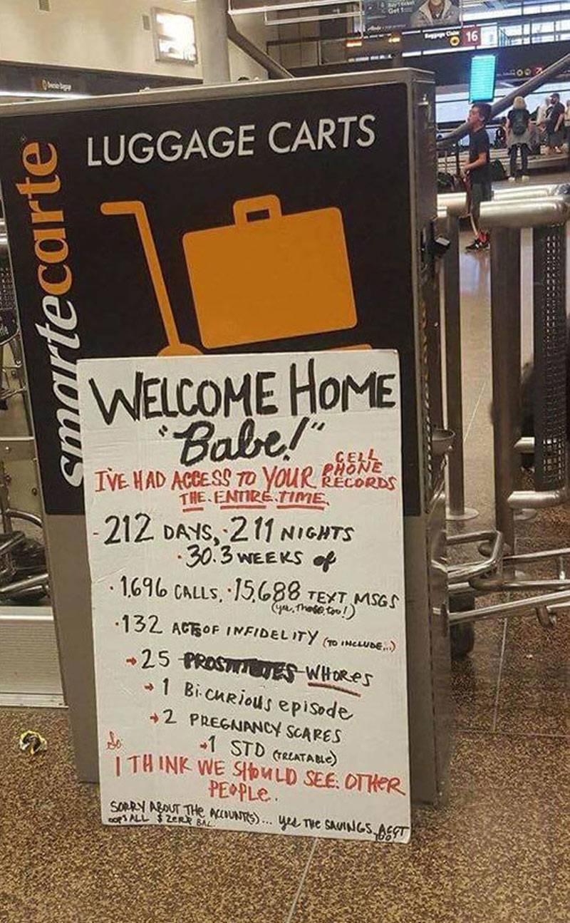 Make you laugh - hilarious airport sign