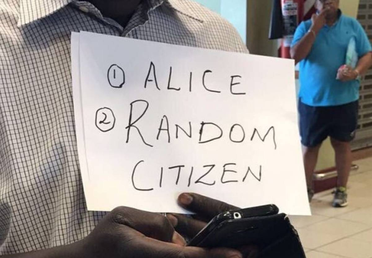 Random Citizen funny airport sign