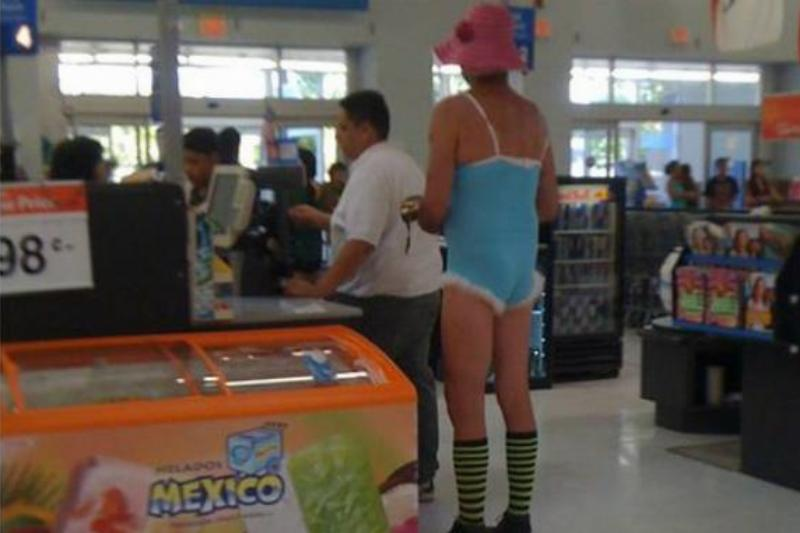 bold outfit at walmart