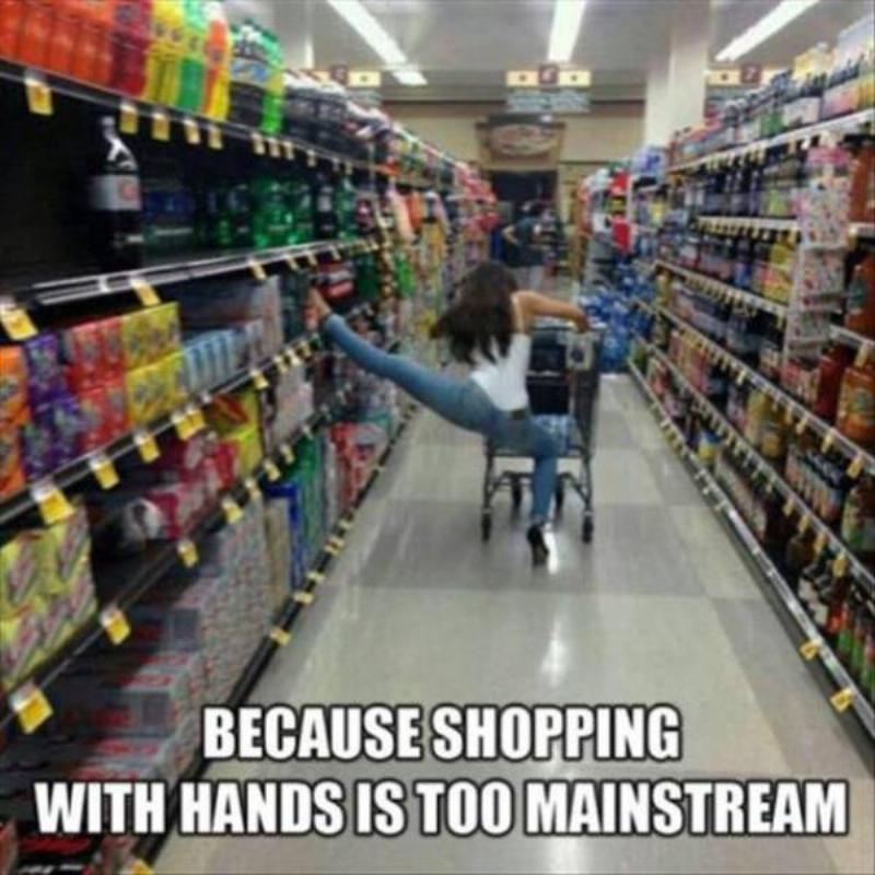 Picking up items with your feet