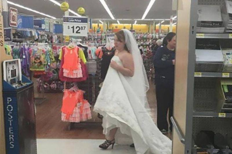 wedding bells at Walmart