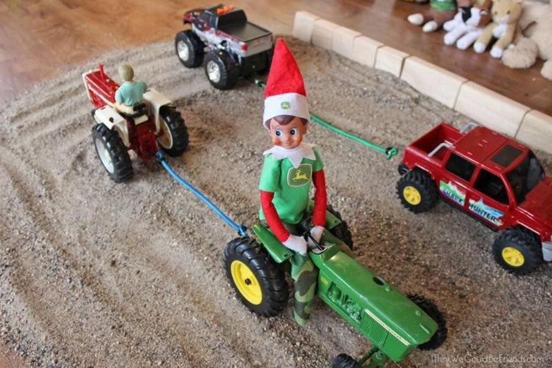 Elf On The Shelf Working For John Deer