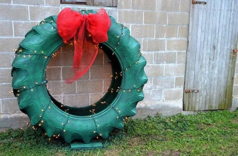 Forget A Wreath, Grab A Tractor Tire