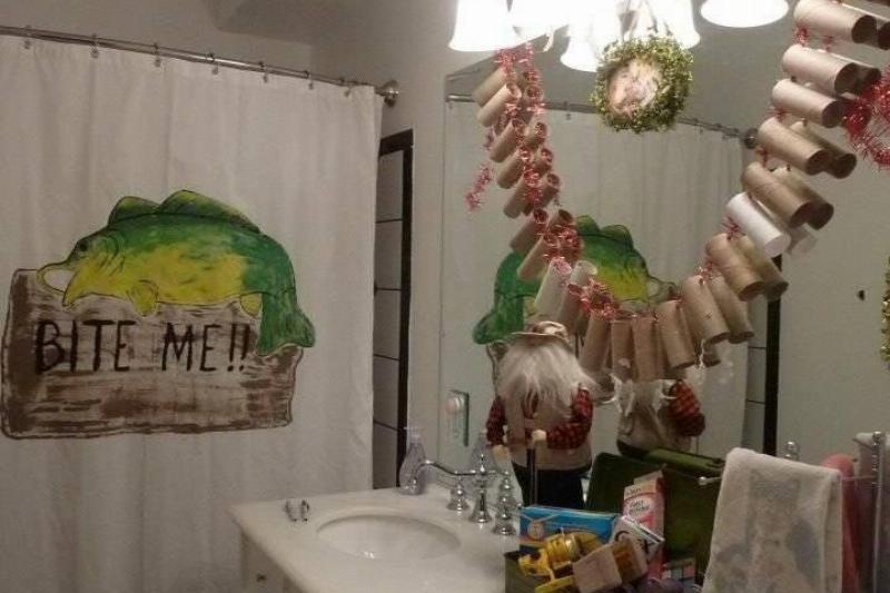 String Up Some TP Rolls For Bathroom Garlands