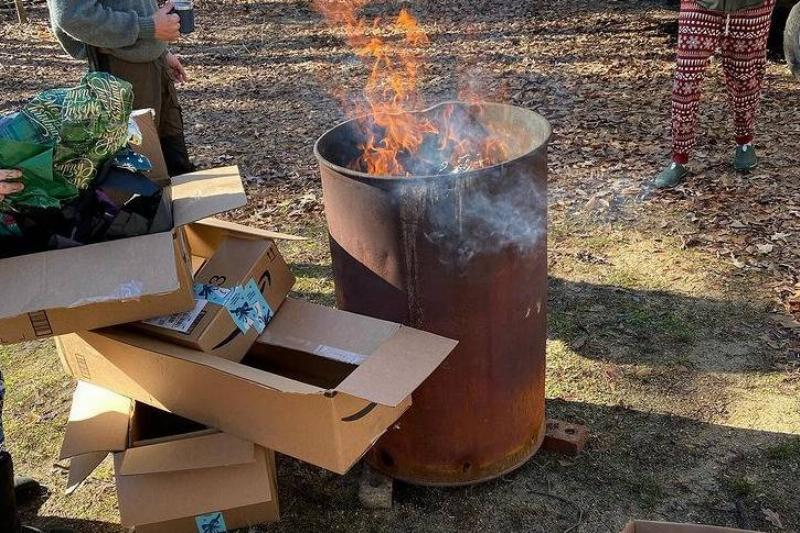 This Redneck Christmas Is An Actual Dumpster Fire
