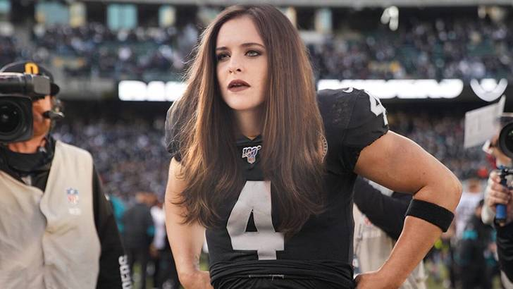 Derek Carr Bringing Some Goth Makeup To The Field