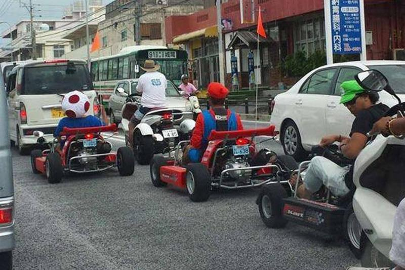 Picture of go carts