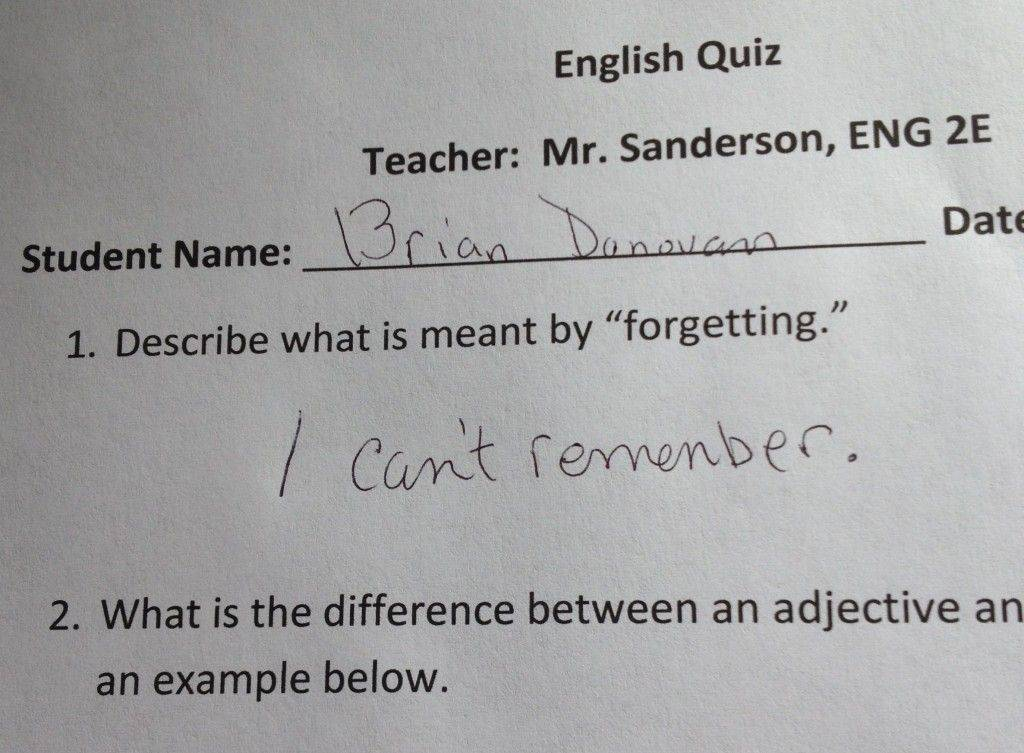 Funny Test Answers Given By Junior High Students