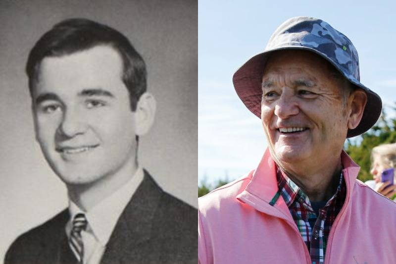 bill murray then and now