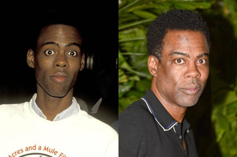 chris rock then and now