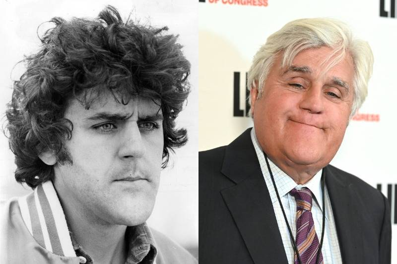 jay leno then and now