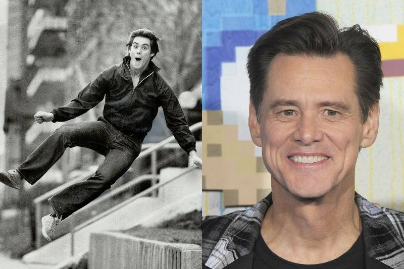 jim carrey then and now