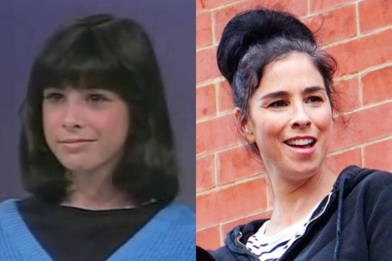 sarah silverman then and now