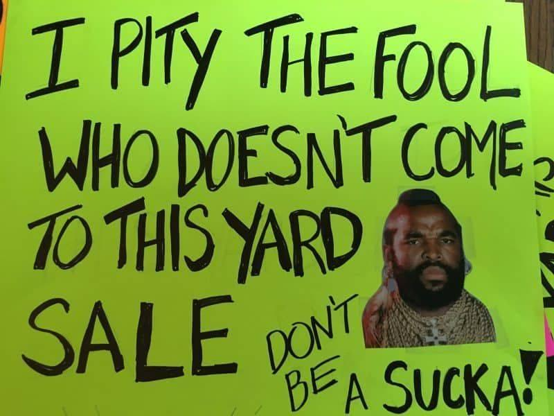 20 Awesome Garage Sale Signs