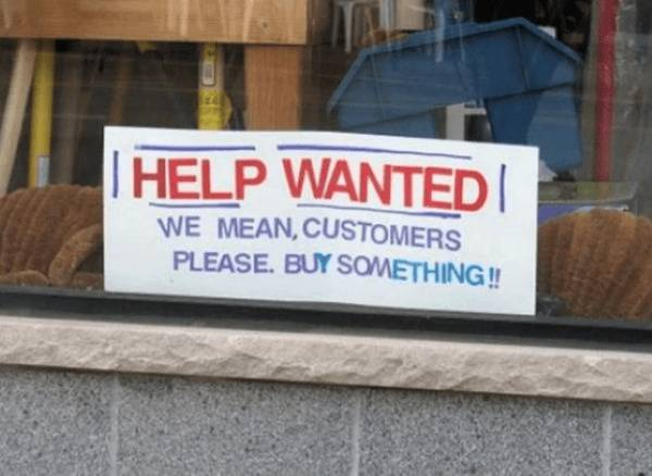 20 Eye-Catching Help Wanted Signs That Demand Your Attention