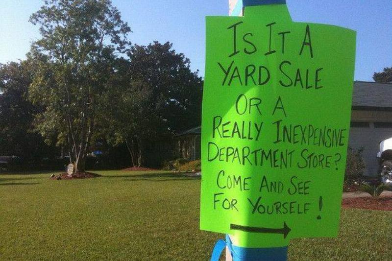 Best Yard Sale Sign Ever!