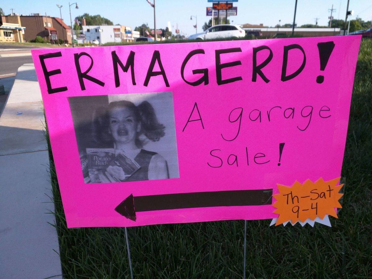 This garage sale sign_